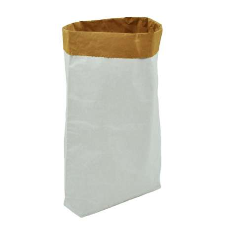Vlakke papieren zak met blokbodem (per 10 stuks)