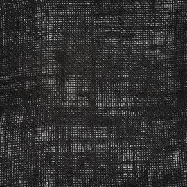 Jute op rol zwart (25 m)