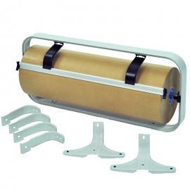 Papierrolhouder met mes incl. voetsteunen en wandbeugels