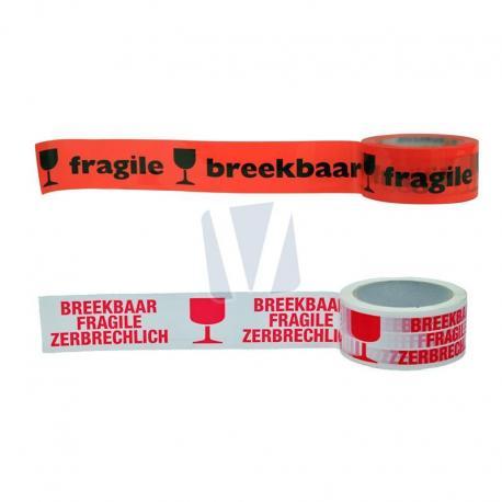 Waarschuwingstape breekbaar / fragile (per rol)