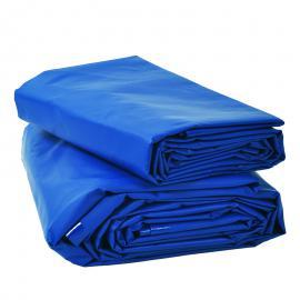 Afdekzeil blauw PVC (600gr/m²)