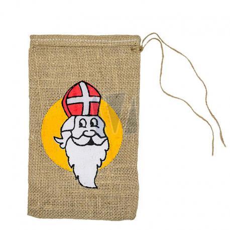 Jute zakken Sinterklaas 15 x 25 cm (per stuk)