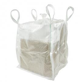 Transparante big bags (geschikt voor 1 kuub)
