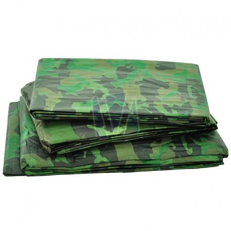 Afdekzeil camouflage groen (100gr/m²)