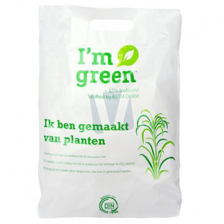 Biobased plastic draagtassen