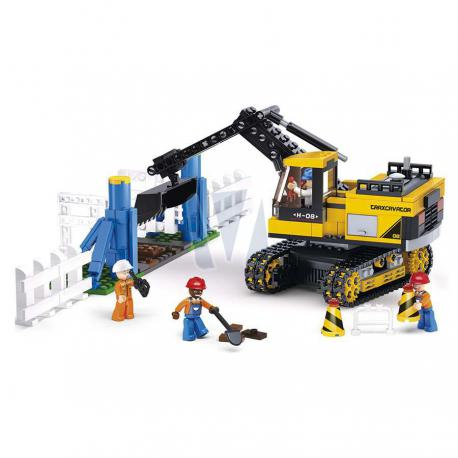 Sluban town construction digger
