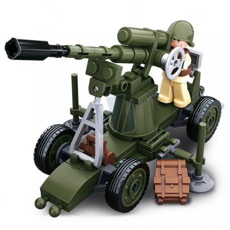 Sluban WWII allied antiaircraft gun
