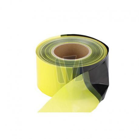 Geel zwart afzetlint