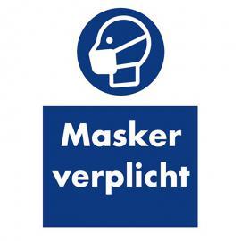 Instructiesticker masker verplicht