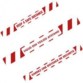 Vloersticker veilige afstand bewaren (NL,EN & FR)
