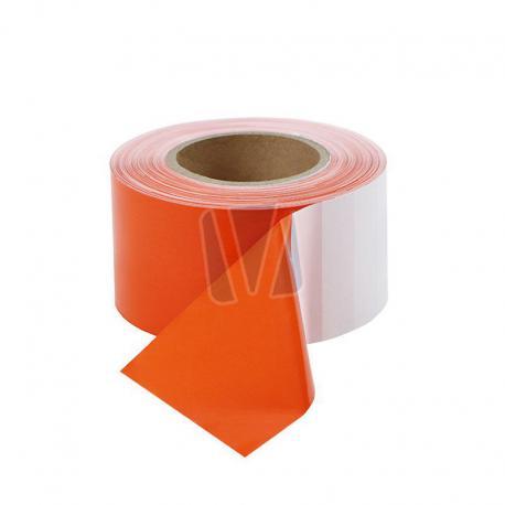 Oranje/wit afzetlint