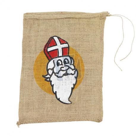 Jute zakken Sinterklaas 30 x 40 cm (per stuk)