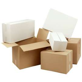 Kartonnen dozen enkele golf (per 25 stuks)