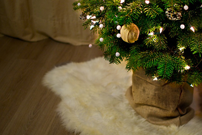 Jute zakken voor de kerstboom